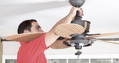 trucos para balancear un ventilador de techo