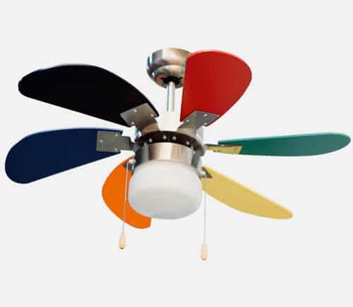 ventiladores de techos infantiles coloridos