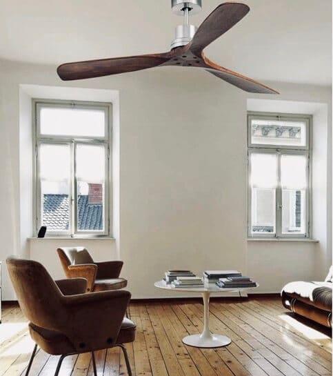 ventilador para el techo no luz de madera